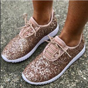 Rose Gold Glitter/Sparkle sneaker FIRM